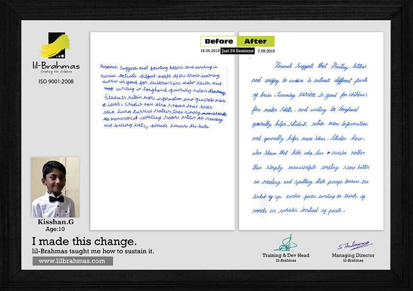 handwriting classes in chennai